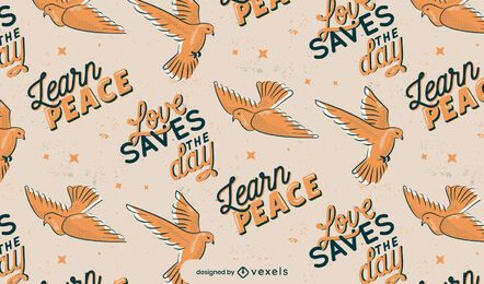 Peace day pattern design