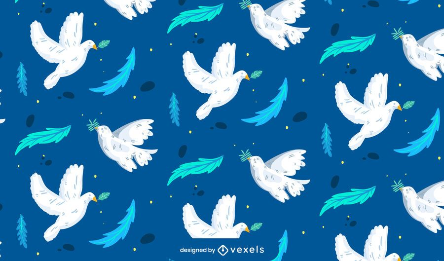 Diseño de patrón de paloma del día de la paz