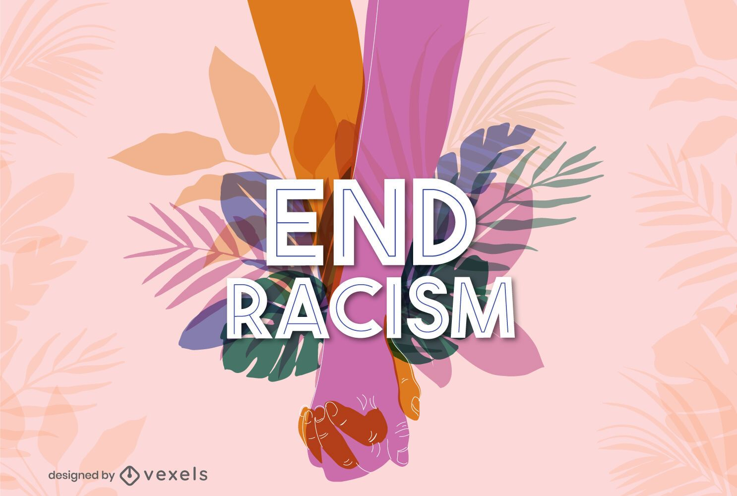 Design de letras para acabar com o racismo