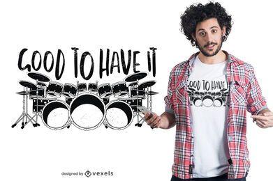 Design de t-shirt de bateria