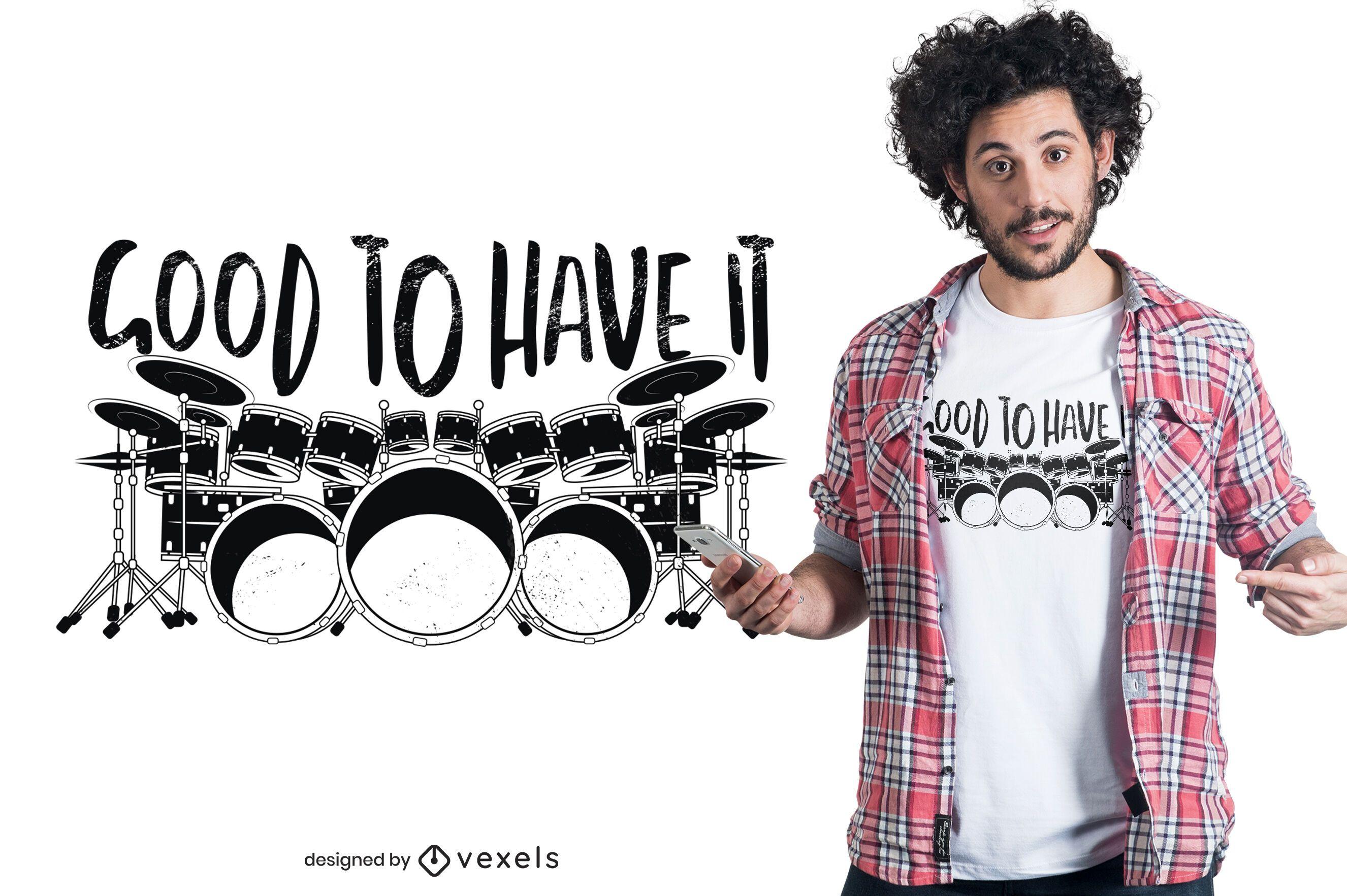 Drum set t-shirt design