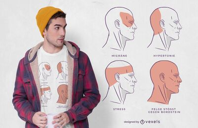 Diseño de camiseta alemana de estrés divertido