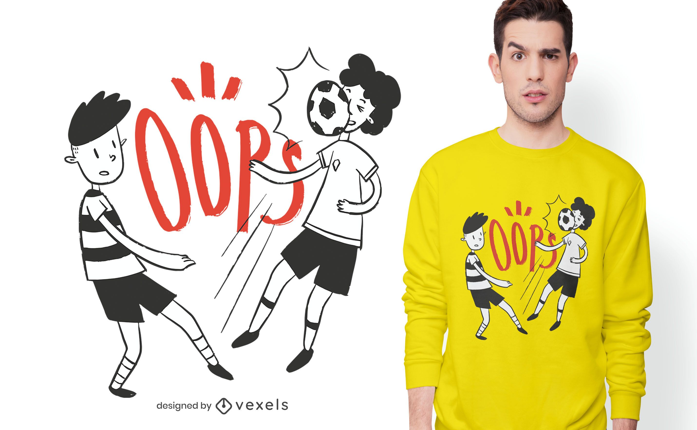 oops soccer t-shirt design