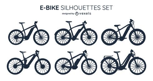 E-bike Silhouette Design Pack