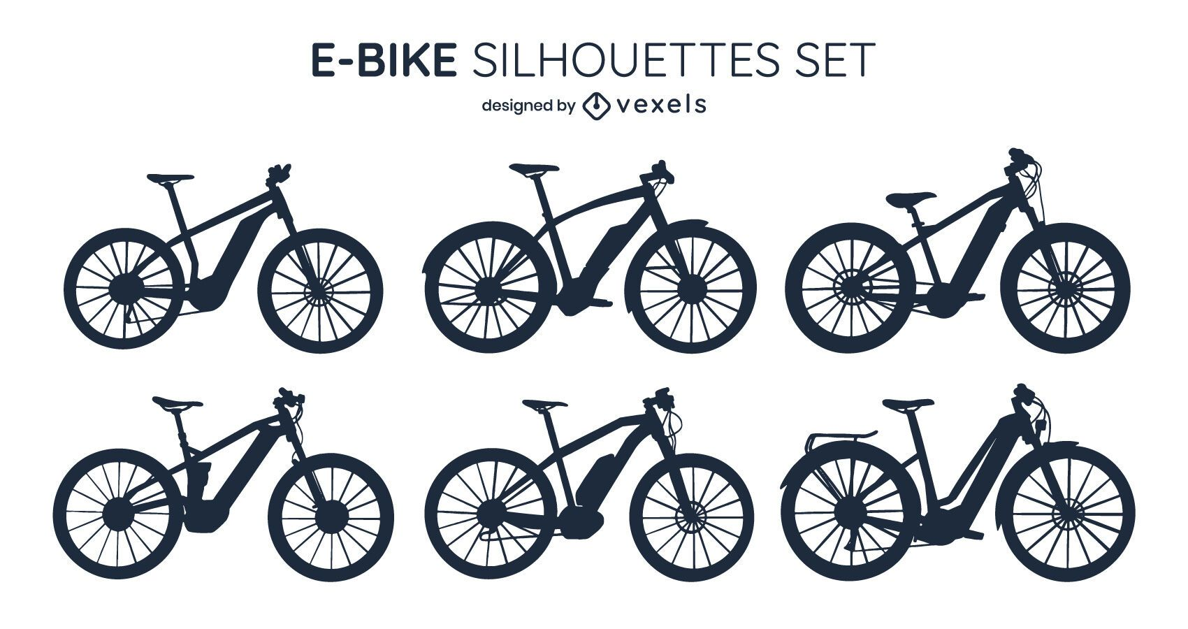 E-bike Silhouette Design Pack