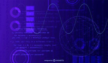 Fundo abstrato de tecnologia azul