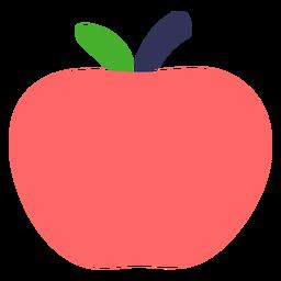Apfel flach