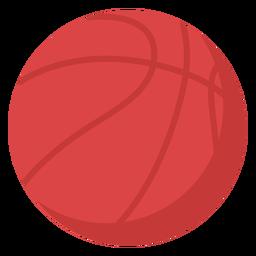 Pelota de baloncesto plana
