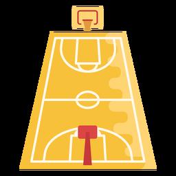 Cancha de baloncesto plana