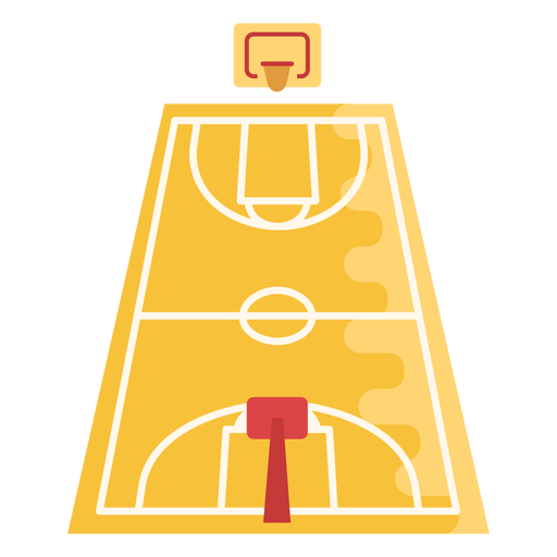 Basketball court flat Transparent PNG