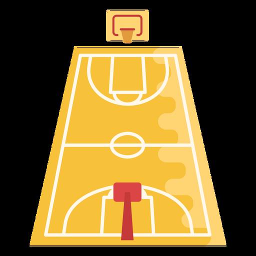 Basketball court flat