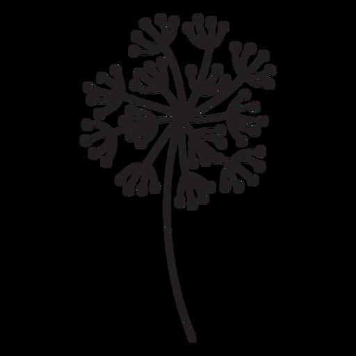 Dandelion buds multiple stroke Transparent PNG