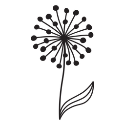 Dandelion buds single thick stroke