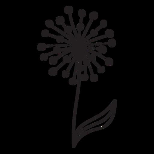 Dandelion buds single thick stroke Transparent PNG
