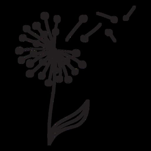 Dandelion buds single thick flying stroke
