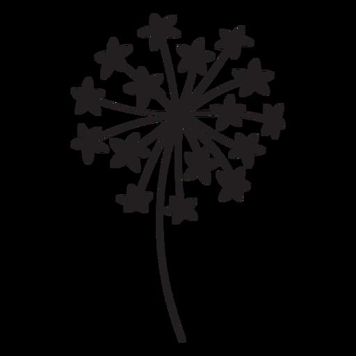 Dandelion flower stroke Transparent PNG