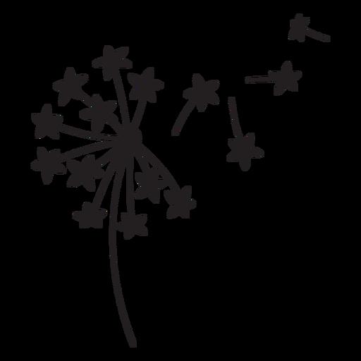 Dandelion flower flying stroke Transparent PNG