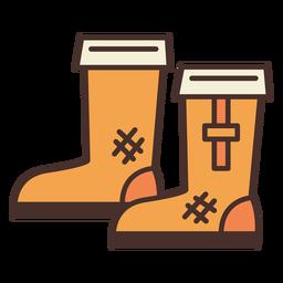Botas de granja icono botas
