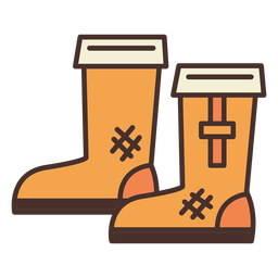 Farm boots icon boots