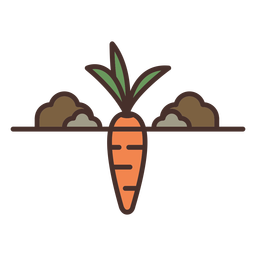 Farm carrot illustration