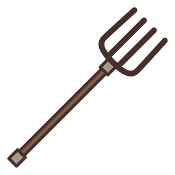 Horquilla de icono de tenedor de granja