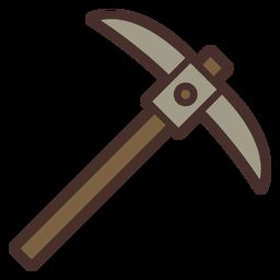 Icono de pico de granja pico