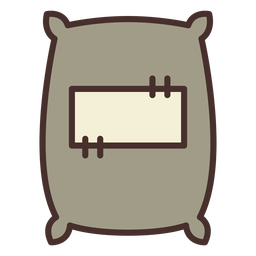 Farm sack icon sack
