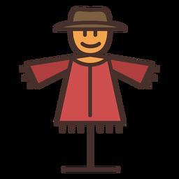 Farm scarecrow icon scarecrow