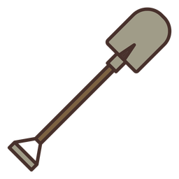 Farm shovel icon shovel