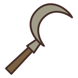 Farm sickle icon sickle
