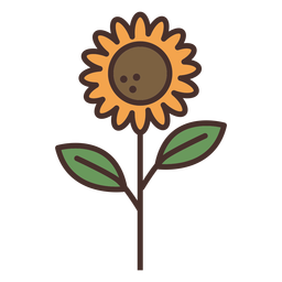 Farm sunflower icon