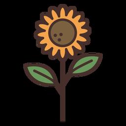 Icono de girasol de granja