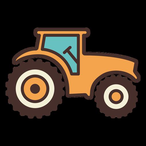 Tractor de icono de tractor de granja