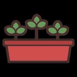 Icono de florero de granja