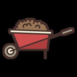 Farm wheel barrow icon