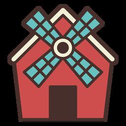 Icono de granero de molino de viento de granja