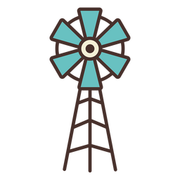 Farm windmill icon