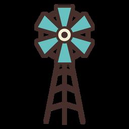 Icono de molino de viento de granja