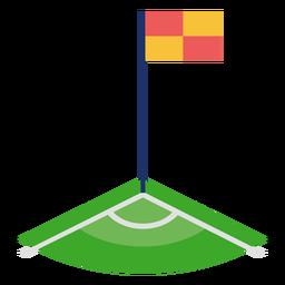 Piso de esquina de fútbol