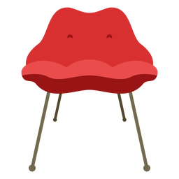 Furniture pop art chair simple flat