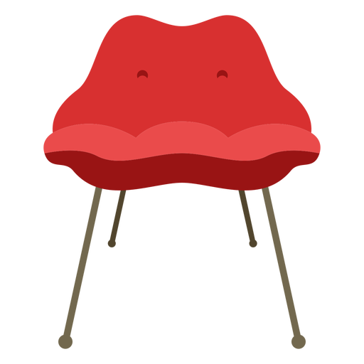 Furniture pop art chair simple flat