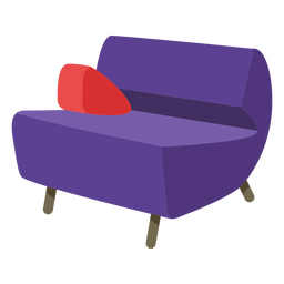 Furniture pop art sofa cones flat