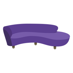 Furniture pop art sofa round flat