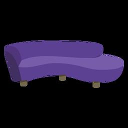 Sofá pop art de móveis redondo plano