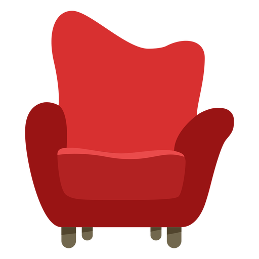 Furniture pop art sofa single flat