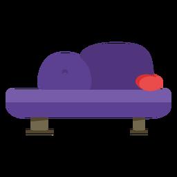 Muebles pop art sofa recto plano