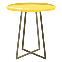 Furniture pop art stool high flat