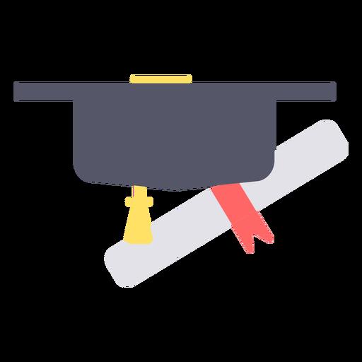 Graduation cap degree flat