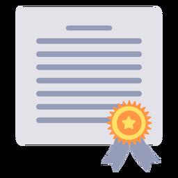 Certificado de graduación certificado plano