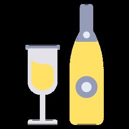 Bebida de formatura plana